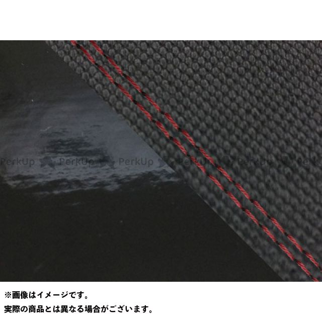 グロンドマン MT-09 MT-09/FZ-09 国産シートカバー スベラーヌ黒&エナメル黒 タイプ:張替 仕様:赤ダブルステッチ Grondement