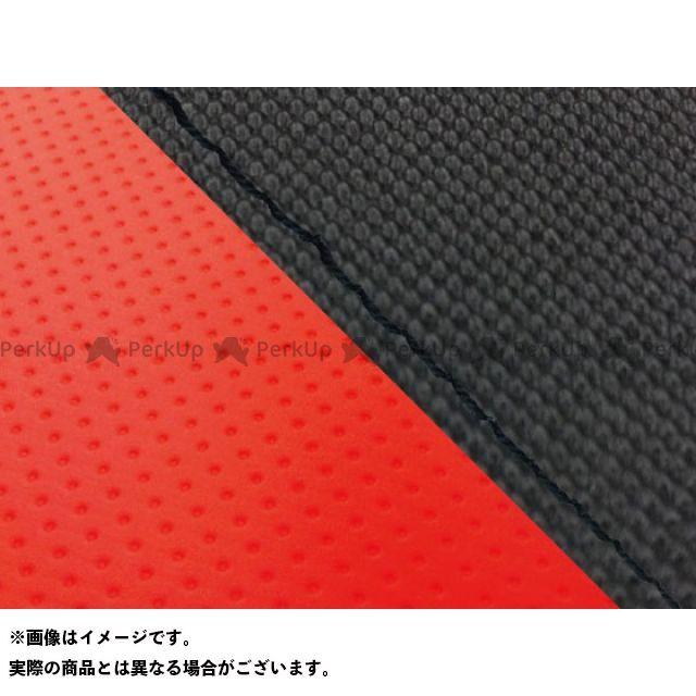 グロンドマン MT-09 MT-09/FZ-09 国産シートカバー スベラーヌ黒&エンボスレッド タイプ:張替 仕様:黒ステッチ Grondement