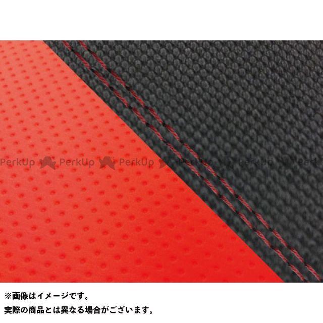 【エントリーで最大P23倍】グロンドマン MT-09 MT-09/FZ-09 国産シートカバー スベラーヌ黒&エンボスレッド タイプ:張替 仕様:赤ダブルステッチ Grondement