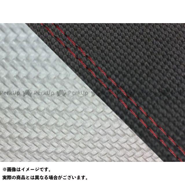 グロンドマン MT-09 MT-09/FZ-09 国産シートカバー スベラーヌ黒&カーボン銀 タイプ:張替 仕様:赤ダブルステッチ Grondement