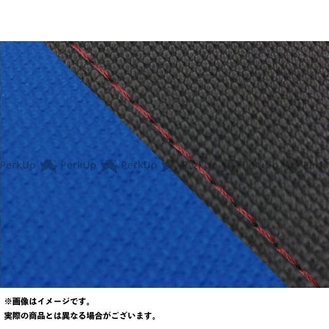 グロンドマン MT-09 MT-09/FZ-09 国産シートカバー スベラーヌ黒&スベラーヌ青 タイプ:張替 仕様:赤ステッチ Grondement