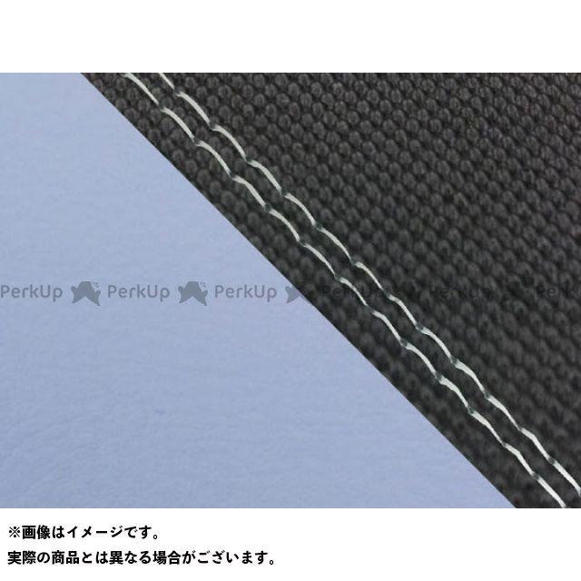 【エントリーで最大P23倍】グロンドマン MT-09 MT-09/FZ-09 国産シートカバー スベラーヌ黒&ライト青 タイプ:張替 仕様:透明ダブルステッチ Grondement