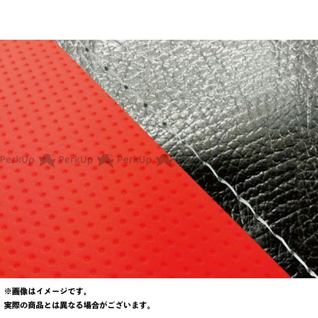 グロンドマン MT-09 MT-09/FZ-09 国産シートカバー 黒&エンボスレッド タイプ:張替 仕様:透明ステッチ Grondement