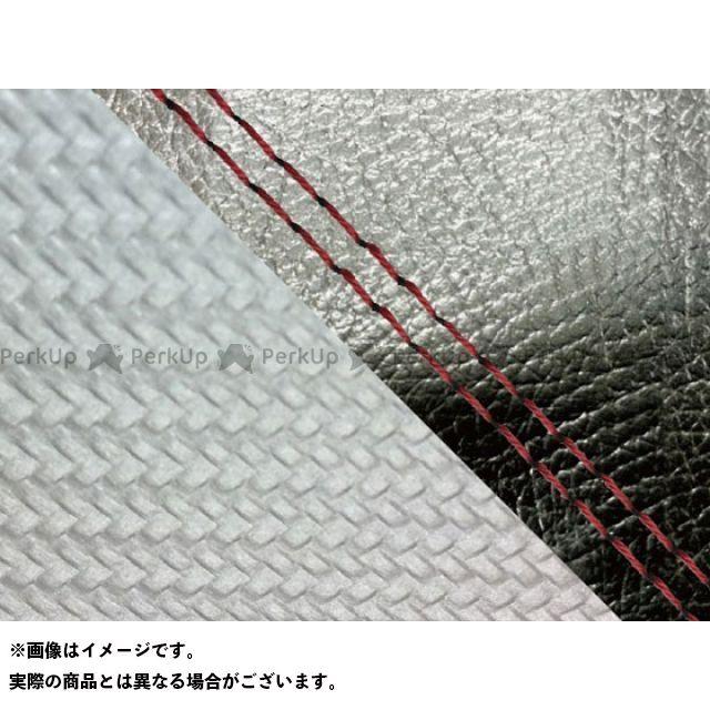 【エントリーで最大P23倍】グロンドマン MT-09 MT-09/FZ-09 国産シートカバー 黒&カーボン銀 タイプ:張替 仕様:赤ダブルステッチ Grondement
