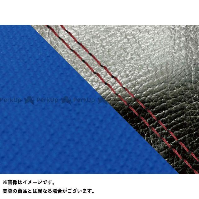 グロンドマン MT-09 MT-09/FZ-09 国産シートカバー 黒&スベラーヌ青 タイプ:張替 仕様:赤ダブルステッチ Grondement
