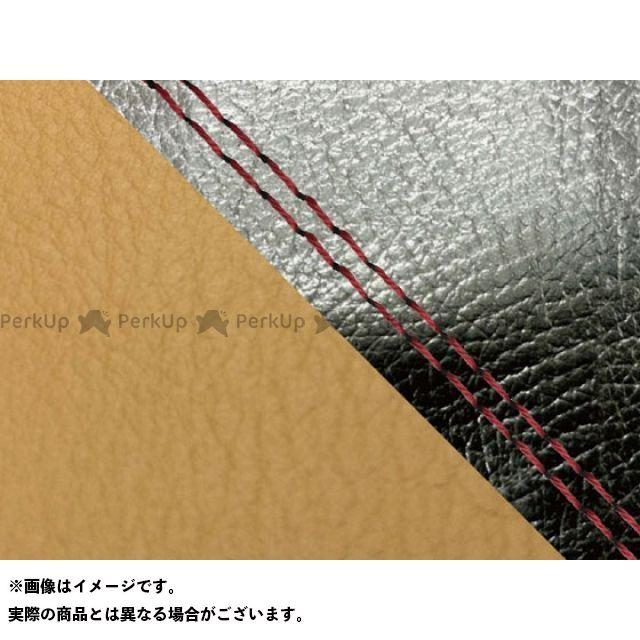 【エントリーで最大P23倍】グロンドマン MT-09 MT-09/FZ-09 国産シートカバー 黒&黄土色 タイプ:張替 仕様:赤ダブルステッチ Grondement