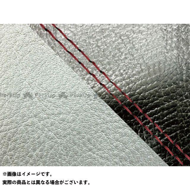 グロンドマン MT-09 MT-09/FZ-09 国産シートカバー 黒&銀 タイプ:張替 仕様:赤ダブルステッチ Grondement