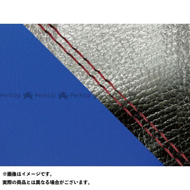 【エントリーで最大P23倍】グロンドマン MT-09 MT-09/FZ-09 国産シートカバー 黒&青 タイプ:張替 仕様:赤ダブルステッチ Grondement