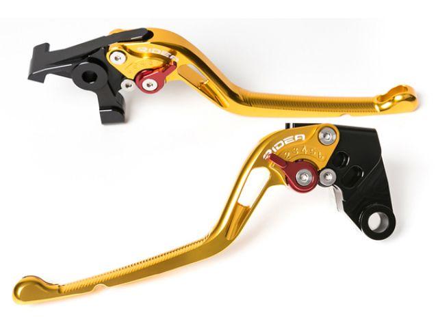 送料無料 リデア バリオス バリオス2 レバー アジャストレバー ブレーキ&クラッチセット ゴールド ブラック
