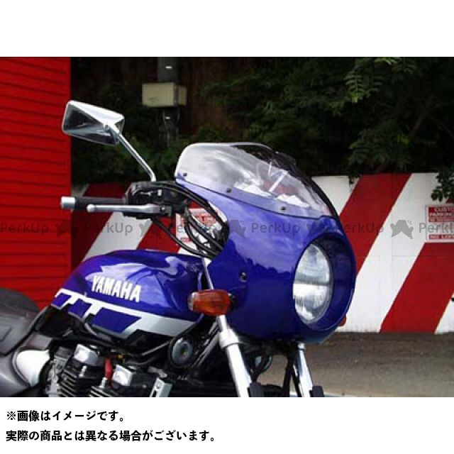 ガルクラフト XJR1200 ブレットビキニ タイプC(スモーク) カウルカラー:ブルーイッシュホワイトカクテル1 0390 GULL CRAFT