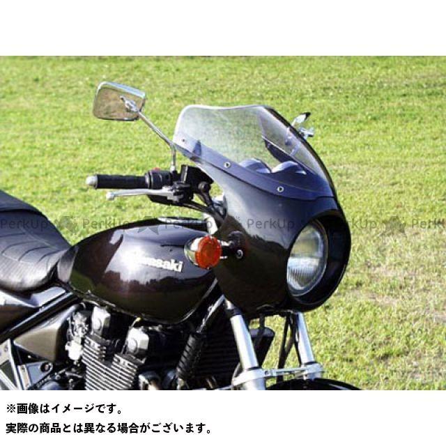 ガルクラフト ゼファー カウル・エアロ ブレットビキニ タイプC(スモーク) エボニー H8/ ゴールド
