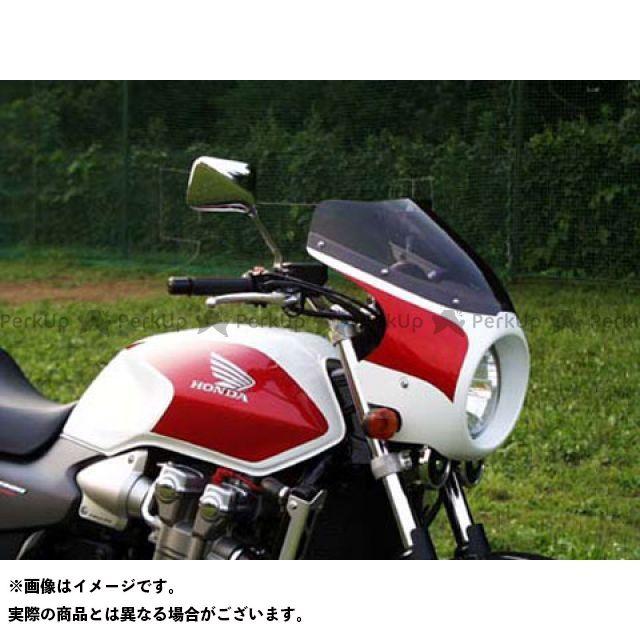 ガルクラフト CB1300スーパーフォア(CB1300SF) ブレットビキニ タイプC(スモーク) カウルカラー:パールフェイドレスホワイト/キャンディアラモアナレッドU GULL CRAFT