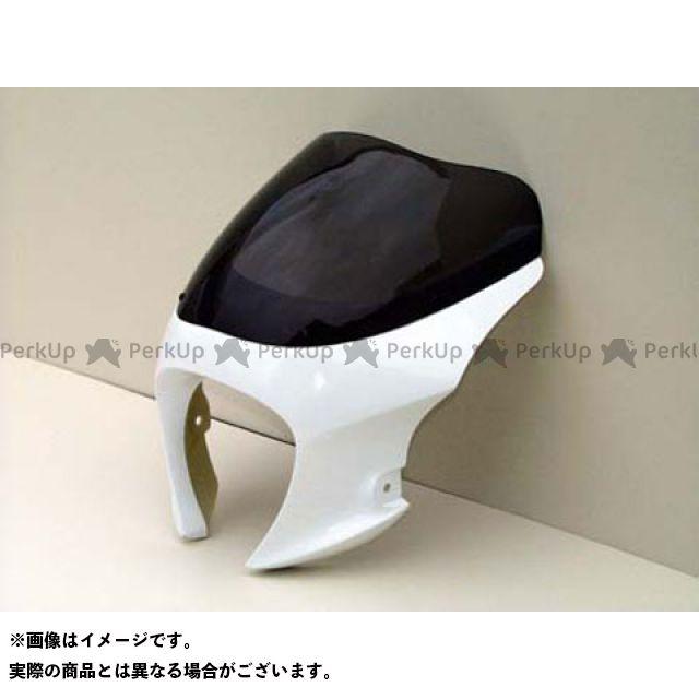 ガルクラフト ゼファー750 カウル・エアロ ブレットビキニ タイプM(スモーク) 白ゲル