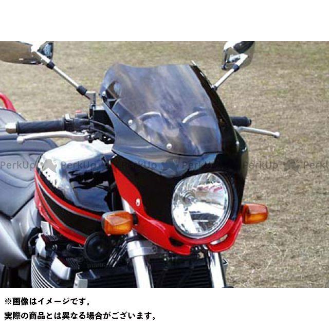 ガルクラフト GSX1400 カウル・エアロ ブレットビキニ タイプS(スモーク) パールヘリオスレッド Y7M/ソリッドブラック D19