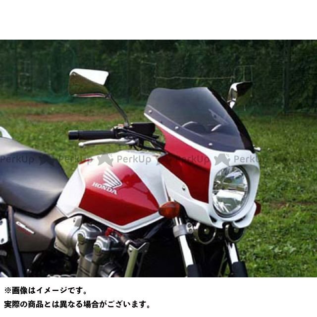 ガルクラフト CB1300スーパーフォア(CB1300SF) カウル・エアロ ブレットビキニ タイプS(スモーク) パールヘロンブルー/フォースシルバーメタリック