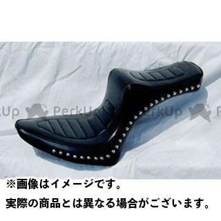アメリカンドリームス ドラッグスター1100(DS11) シート関連パーツ キング&クィーンシート ハーレーパターン Wスタッド 黒レザー