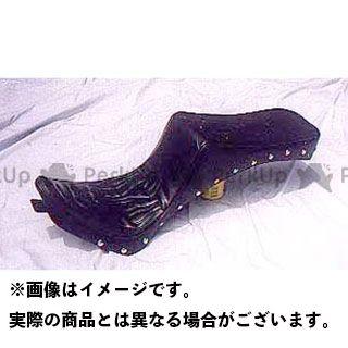 アメリカンドリームス シャドウ400 シャドウ750 シート関連パーツ キング&クィーンシート ファイヤーパターン 黒レザー スタッド付