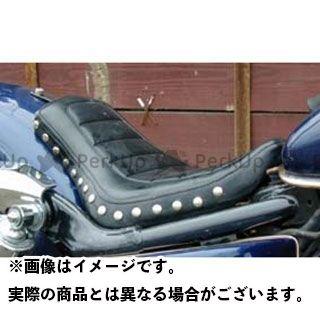 アメリカンドリームス シャドウ400 シャドウ750 シート関連パーツ シングルシート ハーレーパターン 黒レザー Wスタッド