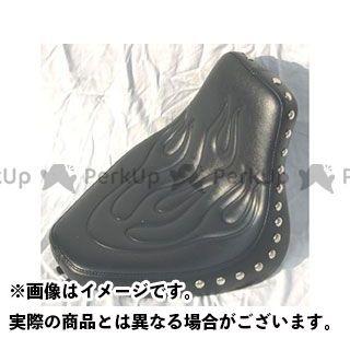 アメリカンドリームス シャドウ400 シャドウ750 シート関連パーツ シングルシート ファイヤーパターン Wスタッド 黒レザー