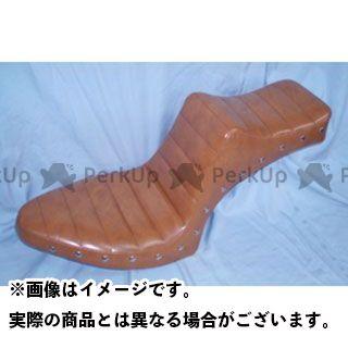 アメリカンドリームス スティード400 キング&クィーンシート タックロールパターン スタッド タイプ:薄茶レザー American Dreams