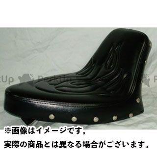 アメリカンドリームス スティード400 シングルシート TYPE1 ファイヤーパターン 黒レザー スタッド付 American Dreams