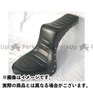 アメリカンドリームス ドラッグスター400(DS4) シート関連パーツ キング&クィーンシート ハーレーパターン スタッド 黒レザー