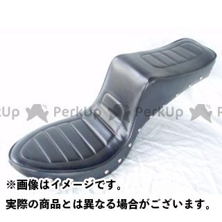 アメリカンドリームス ビラーゴ250(XV250ビラーゴ) シート関連パーツ キング&クィーンシート ハーレーパターン 黒レザー スタッド付