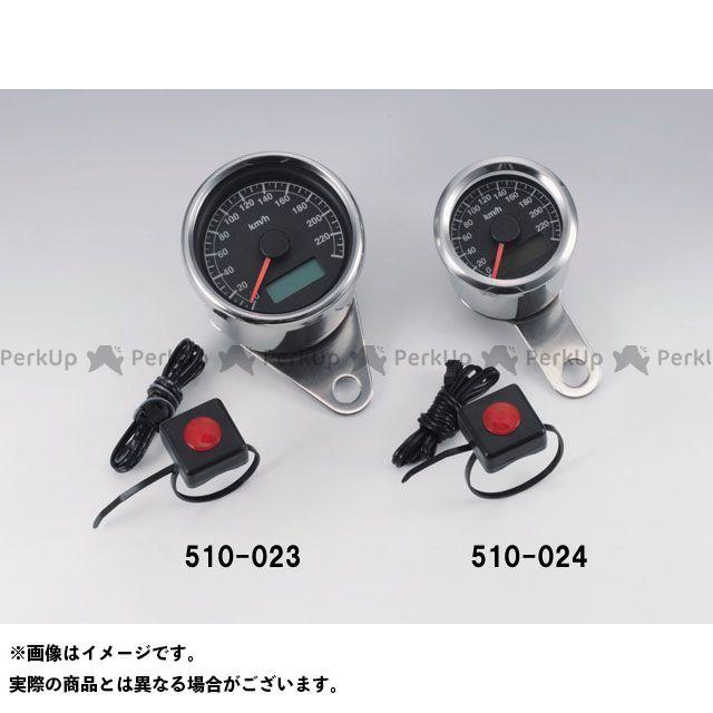 送料無料 キジマ ハーレー汎用 スピードメーター φ48 スピードメーター ブラックパネル(240km/h パルス式)