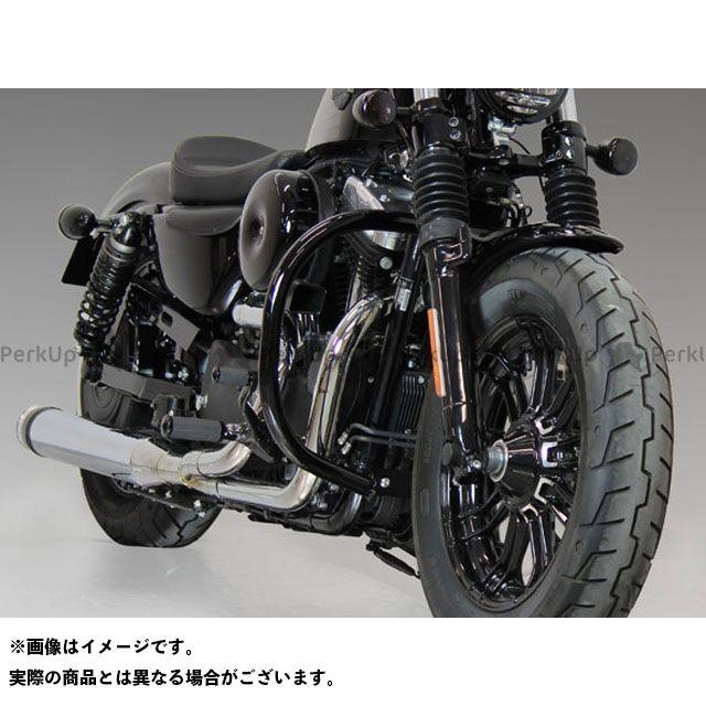 キジマ スポーツスターファミリー汎用 エンジンガード(ブラック) KIJIMA