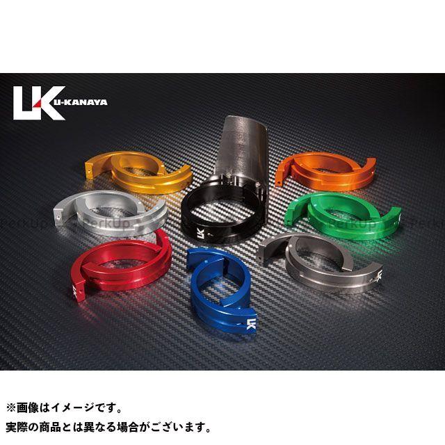 ユーカナヤ ZRX1100 アルミ削り出しビレットフォークガード チタン グリーン U-KANAYA
