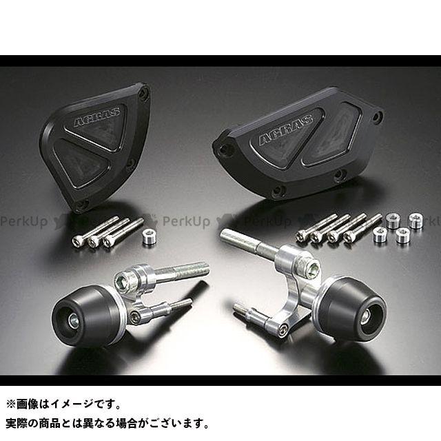 アグラス CBR1000RRファイヤーブレード レーシングスライダー 4点セット カラー:ジュラコン/ホワイト タイプ:ロゴ有 AGRAS