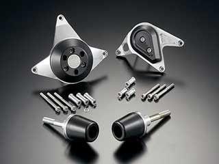 アグラス CBR600RR スライダー類 レーシングスライダー4点セット フレームタイプ+ジェネレーターAタイプ+クラッチAタイプ スライダー部:ブラック/プレート部:シルバー