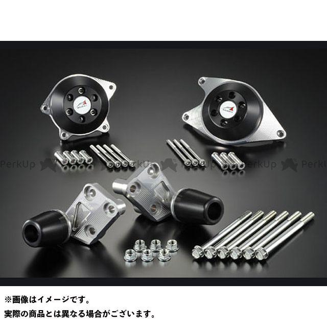 アグラス CB1100 レーシングスライダー 4点SET A ジュラコン/ブラック ロゴ有