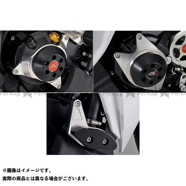 アグラス CBR250R スライダー類 レーシングスライダー 3点SET ジェネC ジュラコン/ブラック