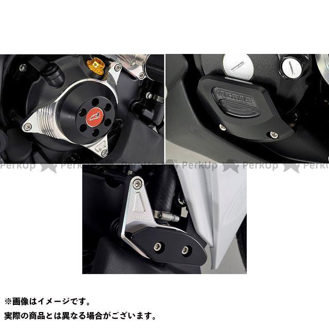 アグラス CBR250R スライダー類 レーシングスライダー 3点SET ジェネB ジュラコン/ブラック