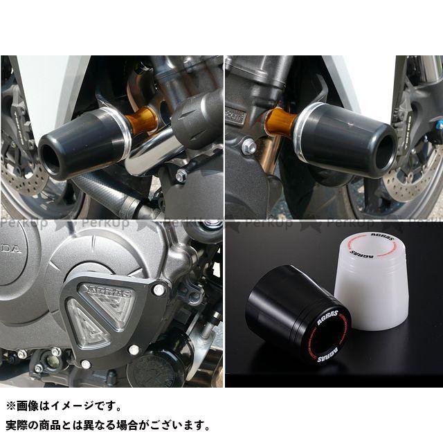 【無料雑誌付き】アグラス CB1000R レーシングスライダー 3点SET 50φ クランクB カラー:ジュラコン/ブラック タイプ:ロゴ有 AGRAS