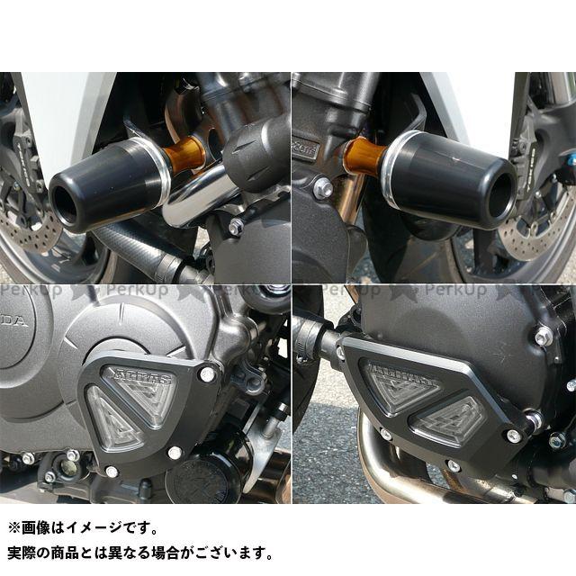 アグラス CB1000R レーシングスライダー 4点SET 60φ カバーB カラー:ジュラコン/ホワイト AGRAS