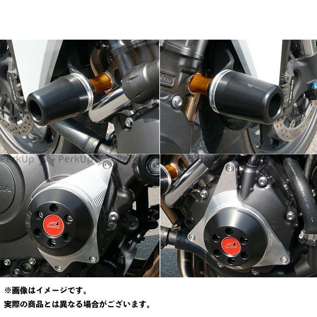 アグラス CB1000R レーシングスライダー 4点SET 50φ ケースC ジュラコン/ホワイト ロゴ有
