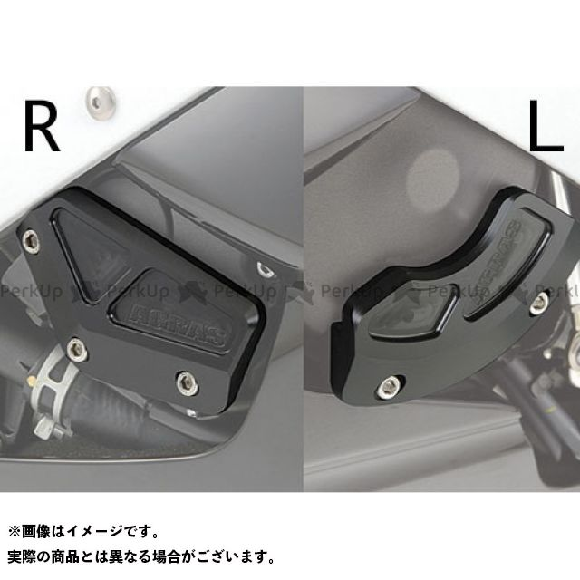 アグラス YZF-R6 レーシングスライダー ケースカバーSET カラー:ブラック AGRAS