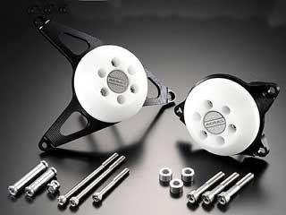 アグラス FZ1(FZ1-N) スライダー類 レーシングスライダー LRセット プレート:ブラック/ジュラコン:ブラック