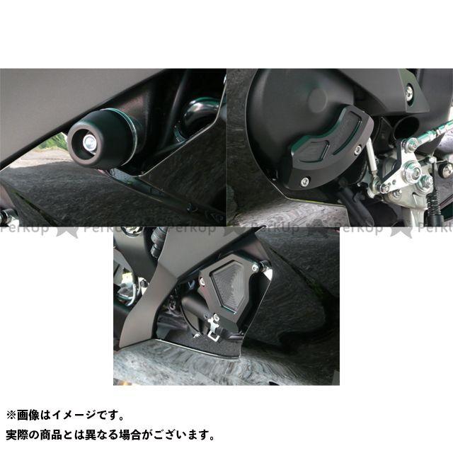 アグラス YZF-R6 スライダー類 レーシングスライダー 4点SET ジュラコン/ホワイト ロゴ無