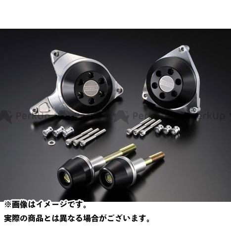アグラス YZF-R1 レーシングスライダー 4点SET A カラー:ジュラコン/ブラック タイプ:ロゴ無 AGRAS