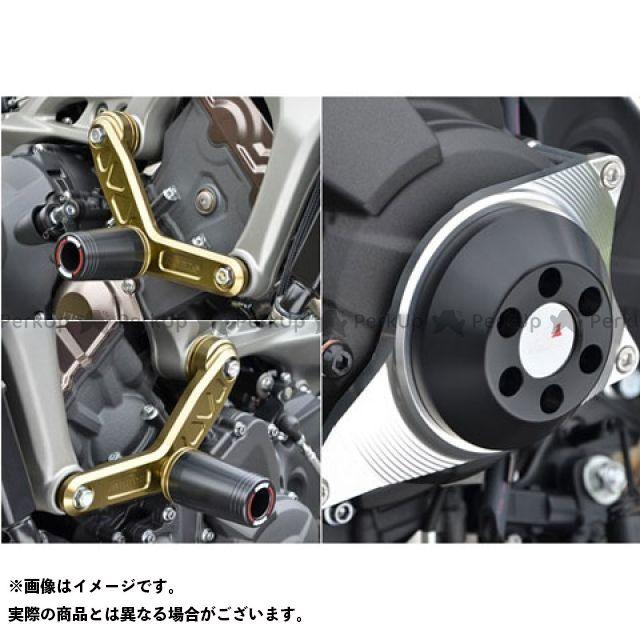 アグラス MT-09 スライダー類 レーシングスライダー 3点セット エンジンハンガーφ50+ジェネレーター ジュラコン/ブラック ロゴ無