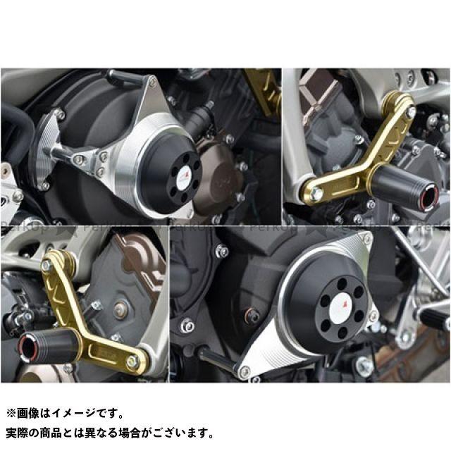 【エントリーで更にP5倍】アグラス MT-09 レーシングスライダー 4点セット エンジンハンガーφ50 カラー:ジュラコン/ホワイト タイプ:ロゴ無 AGRAS