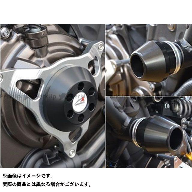 アグラス MT-07 レーシングスライダー 3点セット フレームφ60+クラッチ カラー:ジュラコン/ホワイト AGRAS