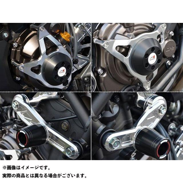 アグラス MT-07 スライダー類 レーシングスライダー 4点セット サブフレームタイプスライダーφ50 ジュラコン/ホワイト ロゴ有