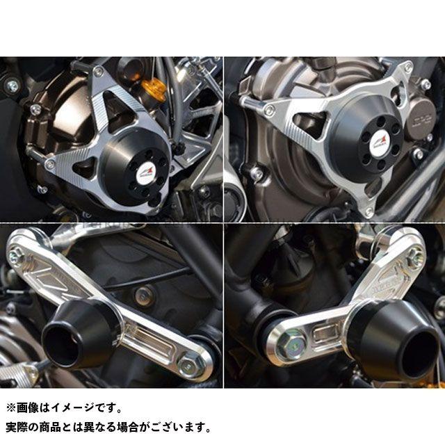 アグラス MT-07 スライダー類 レーシングスライダー 4点セット サブフレームタイプスライダーφ60 ジュラコン/ブラック