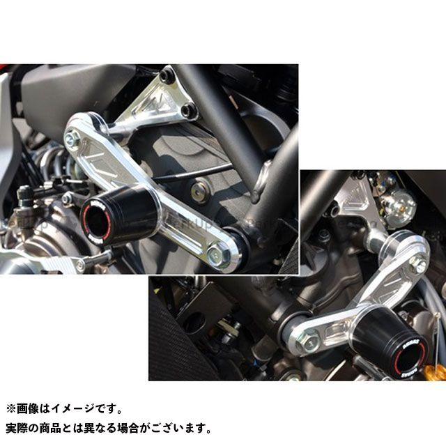 アグラス MT-07 レーシングスライダー サブフレームタイプスライダーφ50+エンジンハンガー ジュラコン/ブラック ロゴ有 AGRAS