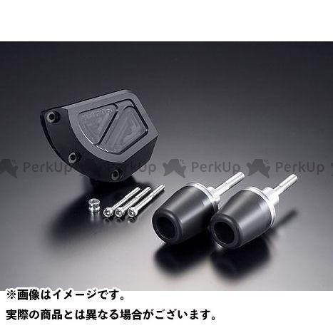 アグラス GSX-R1000 スライダー類 レーシングスライダー 3点SET B ジュラコン/ブラック ロゴ無