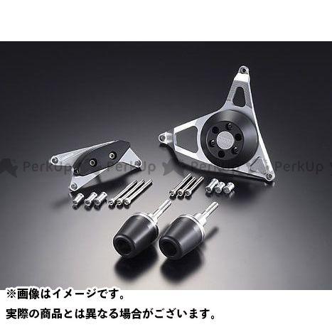 アグラス GSX-R1000 レーシングスライダー 4点SET A カラー:ジュラコン/ホワイト タイプ:ロゴ無 AGRAS